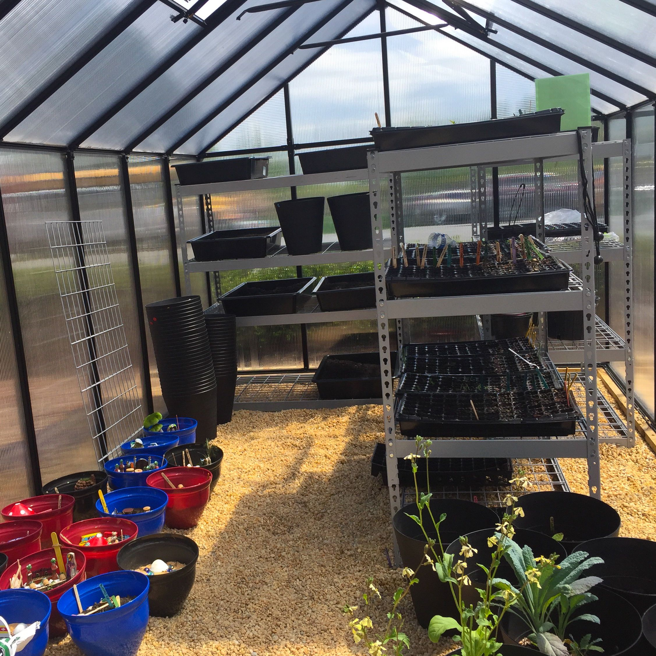 Many science experiments and gardening projects get their start in greenhouse and nearby planting stations, which were built and installed by Barnesville alumni earning Eagle Scout honors.