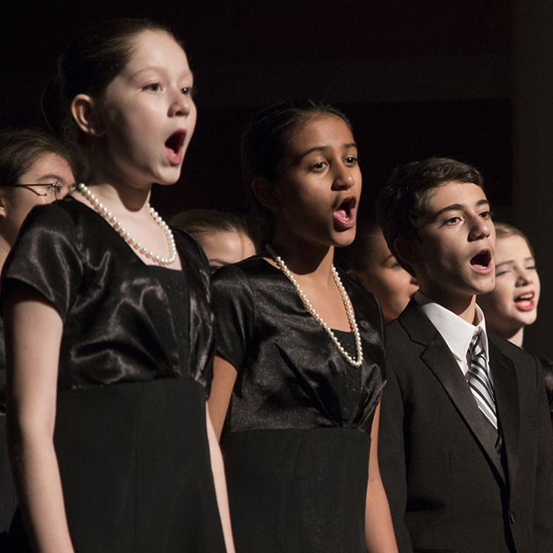 Children and teens in grades 2 through 12 can audition to join our choir. Our young singers receive professional music education and unique performance opportunities.