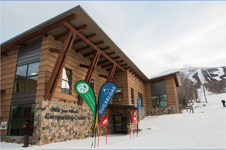 The center is located on an expanded footprint of what was originally the loading terminal of the famous Sugarloaf gondola, and features office space for staff from Sugarloaf, CVA, and the Ski Club, tuning and waxing facilities, trainers' room, locker rooms, as well as dedicated team rooms for the Colby College and University of Maine at Farmington ski teams.