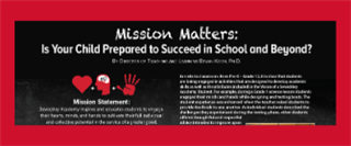 Mission Matters:  Is Your Child Prepared to Succeed in School and Beyond?
